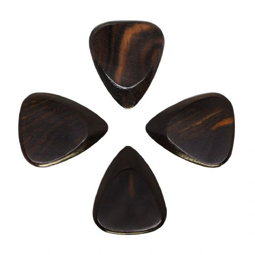 Timber Tones Fat African Ebony Pack of 4 Guitar Picks